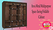 Xcluciveoffer Anva Metal Multipurpose Space-Saving Foldable Cabinet