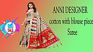 Xcluciveoffer ANNI DESIGNER cotton with blouse piece Saree
