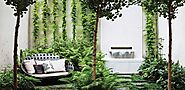 120 Small Courtyard Garden with Seating Area Design - Rockindeco