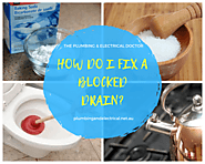 Home Remedies for Blocked Drains