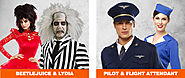 Beetlejuice & Lydia and Pilot & Flight Attendant