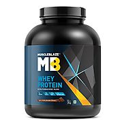 MuscleBlaze 100% Whey Protein Supplement Powder with Digestive Enzyme