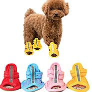 Casual Anti-Slip Soft Mesh Breathable Candy Colors Small Dog Sandals Shoe - Royaletag.com