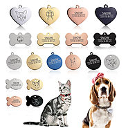 Engraved Stainless Steel Bone-Shaped Pet Tag ID Charm Pendant for Dogs Collars - Royaletag.com