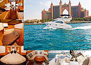 Welcome New Year with a BANG of Atlantis Fireworks in 44 ft Royal Yacht Exclusive chartering in Dubai | tripzy.ae