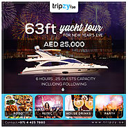Get Aboard on 63 ft Super Yacht for Exclusive Chartering to Roll New Year Eve 2019 | tripzy.ae