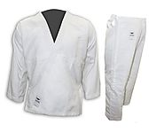 Tokyodo Judo Gi/Uniform Single Weave 100% Cotton Medium Weight Jacket, Pant, White Belt - $45.99