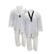 Tokyodo Taekwondo Uniform 2.0, Jacket, Pants & White Belt, 8.5 Oz, Medium Weight - $24.99