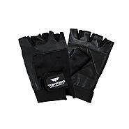 Tokyodo Sports Gloves Leather Padded Palm with Stretchable Spandex Back for Gym, Cycling, Weight Lifting - $15.14