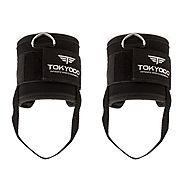 Tokyodo Ankle Straps, Adjustable Comfort Fit Neoprene Padding, Nylon Web, Metal D Ring for Cable Machines Strength Ex...