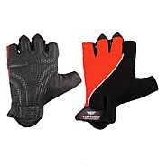 Tokyodo Gym Genuine Leather Palm Gloves with Four Way Stretchable Back and Strong Sticky Adjustable Strap, 8 mm Foam ...