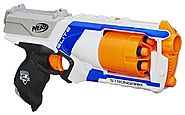 Nerf N Strike Elite Strongarm Toy Blaster with Rotating Barrel, Slam Fire, and 6 Official Nerf Elite Darts for Kids, ...