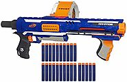 Nerf Rampage N-Strike Elite Toy Blaster with 25 Dart Drum Slam Fire & 25 Official Elite Foam Darts for Kids, Teens, &...