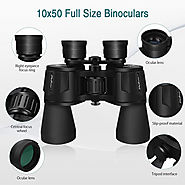 SkyGenius 10x50 Powerful Full-Size Binoculars - Complete Review | Target Frog