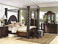 Ashley Furniture North Shore Poster Canopy Bedroom Set