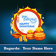Happy Dhanteras 2019 images with name