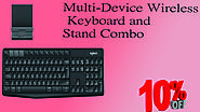 Xclusiveoffer Multi-Device Wireless Keyboard and Stand Combo.