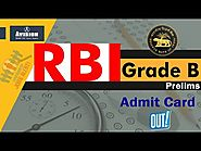 RBI Grade B Prelims Admit Card Out