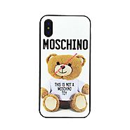 Moschino Fur Bear iPhone Case White