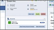 Lead View of the Pipeliner CRM Mobile Application