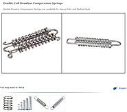 Double Coil Drawbar Compression Springs, Stainless Steel Double Coil Drawbar Compression Springs