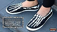 DIY Skeleton Shoes