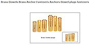 Brass Dowels Anchors Dowel plugs fasteners Brass Anchor fasteners