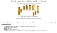 M8 Brass Anchors M8 brass Drop in anchors 8mm Brass Anchors Fasteners metric anchors