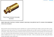 BRASS ANCHORS FOR POOL COVERS CONCRETE ANCHORS FOR WINTER SAFETY COVERS SWIMMING POOLS ACCESORIES