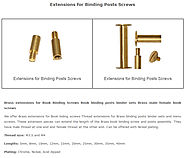 Brass extensions for Book Binding Screws Book binding posts binder sets Brass male female book screws