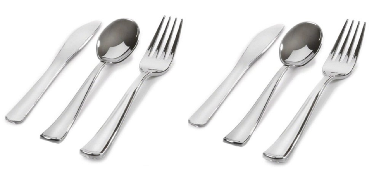 Headline for Top Rated Plastic Silverware That Looks Real
