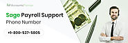 Sage Payroll Support Phone Number +1-8OO-537-58O5