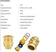 CXT Type Brass Cable Glands