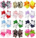 "HipGirl Boutique Girls Large 4.5"" Spike Hair Bow Clips, Barrettes."