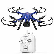 DROCON MJX Bugs 3 Blue Drone Powerful Brushless Motor Quadcopter High Speed Flying Gopro Drone for Adults and Hobbyil...