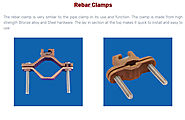 Rebar Clamps – Bronze casting Copper casting Aluminium bronze casting Stainless Steel Brass casting in India – Conex ...