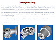 Gravity Die Casting – Bronze casting Copper casting Aluminium bronze casting Stainless Steel Brass casting in India –...