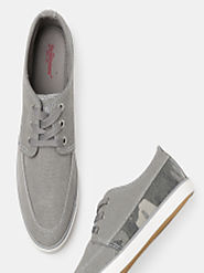 Buy Roadster Men Grey Sneakers - Casual Shoes for Men 8058267 | Myntra