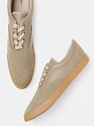 Buy Roadster Men Beige Sneakers - Casual Shoes for Men 8058307 | Myntra