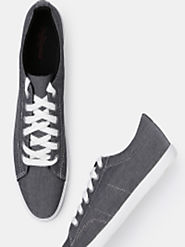 Buy Roadster Men Charcoal Sneakers - Casual Shoes for Men 5841889 | Myntra