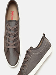 Buy Roadster Men Brown Sneakers - Casual Shoes for Men 5841907 | Myntra