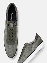 Buy Roadster Men Olive Green Sneakers - Casual Shoes for Men 6940192 | Myntra