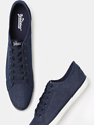 Buy Roadster Men Navy Blue Sneakers - Casual Shoes for Men 2038495 | Myntra
