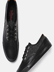 Buy Roadster Men Black Sneakers - Casual Shoes for Men 2446593 | Myntra
