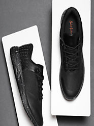 Buy Mast & Harbour Men Black Sneakers - Casual Shoes for Men 4286382 | Myntra