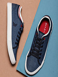 Buy Mast & Harbour Men Navy Blue Sneakers - Casual Shoes for Men 2019517 | Myntra