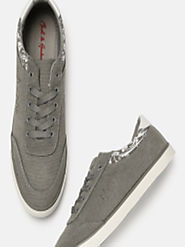 Buy Mast & Harbour Men Grey Sneakers - Casual Shoes for Men 5841824 | Myntra