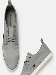 Buy Mast & Harbour Men Grey Sneakers - Casual Shoes for Men 5841826 | Myntra