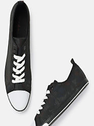 Buy Mast & Harbour Men Black Sneakers - Casual Shoes for Men 5841862 | Myntra