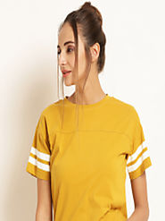 Buy Harpa Women Mustard Yellow Solid Top - Tops for Women 7455920 | Myntra